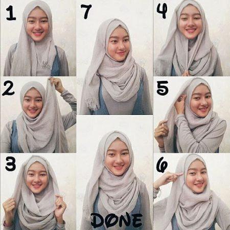 30 Cara Memakai Jilbab Pashmina Modern Dan Simple Belajar Hijab