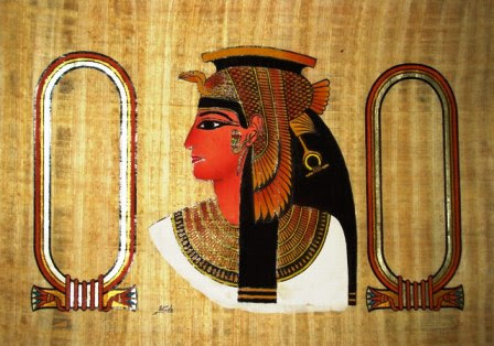 Personalized Papyrus Painting:   Cleopatra