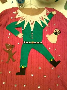 Homemade ugly sweater