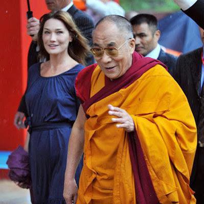 Dalai Lama with Carla
