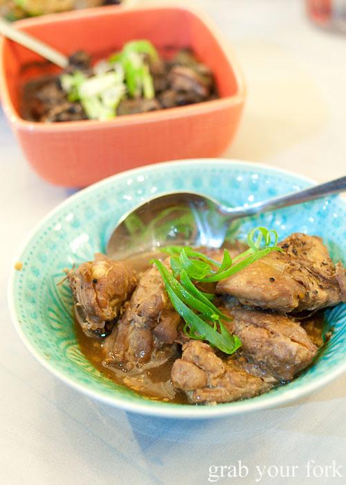 adobo chicken at lamesa phillipine cuisine haymarket chinatown