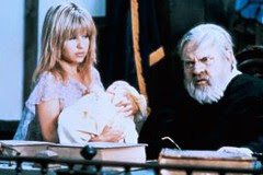 Kady (Pia Zadora) in front of the Judge (Orson Welles)