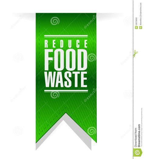 Reduce Food Waste Banner Sign Stock Illustration   Image