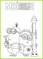 Moi Moche Et Mechant 2 Coloriages A Imprimer