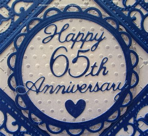 Tinyrose's Craft Room: 65th Wedding Anniversary Card