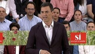 Pedro Sánchez, en l'acte de proclamació com a candidat del PSOE