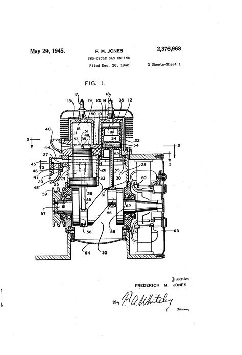 Patent US2376968 - Two-cycle gas engine - Google Patents