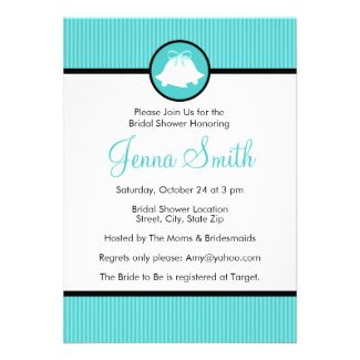 Bridal Shower Invitation | Blue Wedding Bells