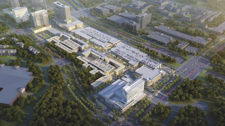An aerial of the proposed $2 billion Legacy West development.