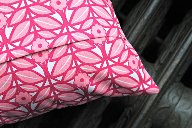 Pink House PIllow Back