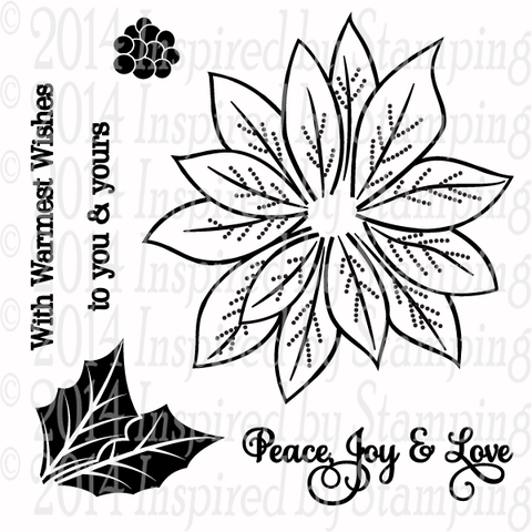 Inspired by Stamping Poinsettias stamp set