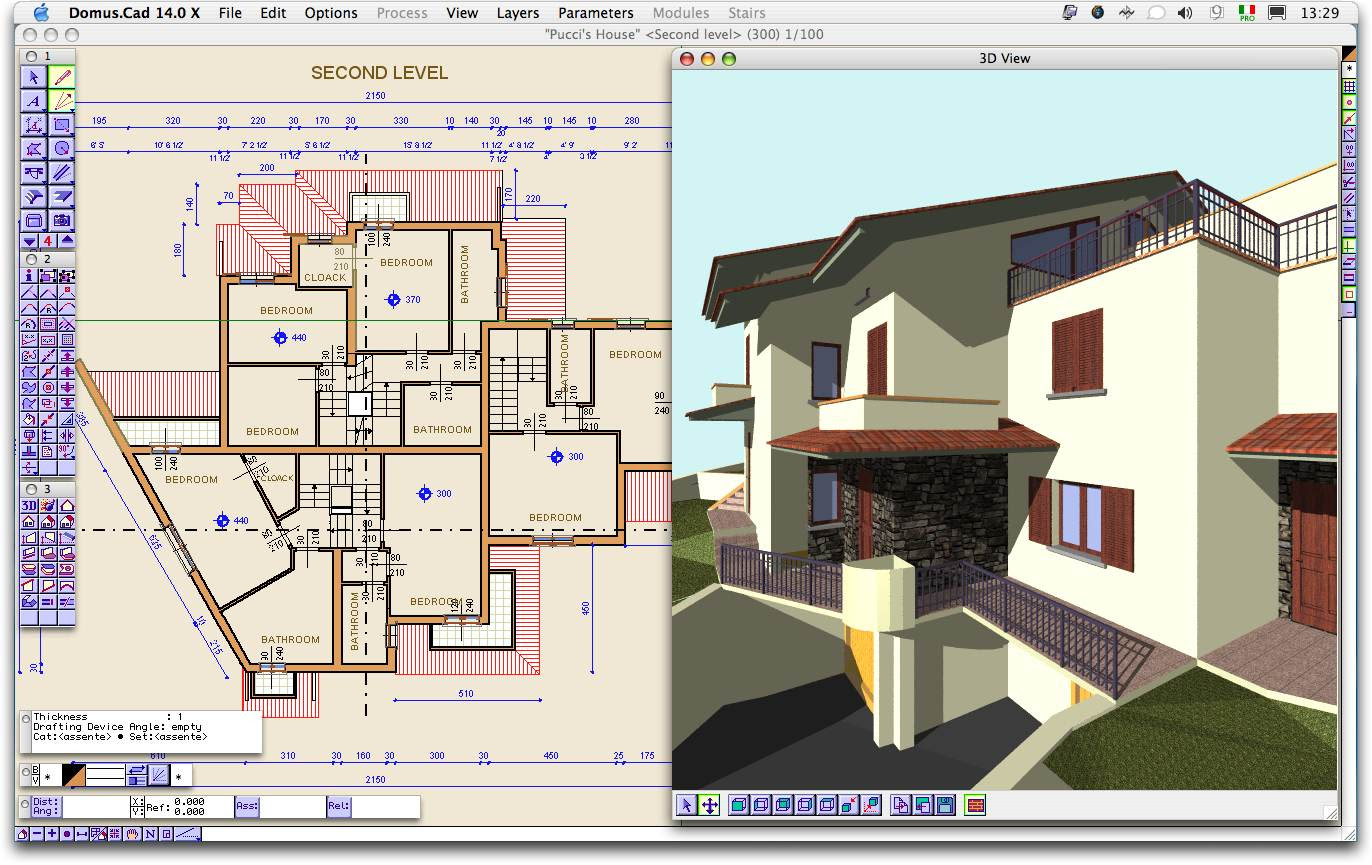 Domus.Cad download - Architectural 3D CAD, interactive design