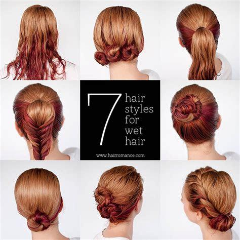 quick hairstyle  wet hair alldaychic
