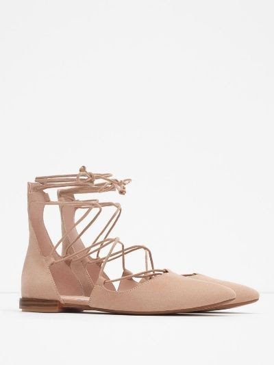 Zara Lace-Up Flats