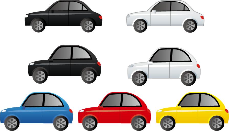 フリーイラスト 7種類の自家用車のセットでアハ体験 Gahag 著作権