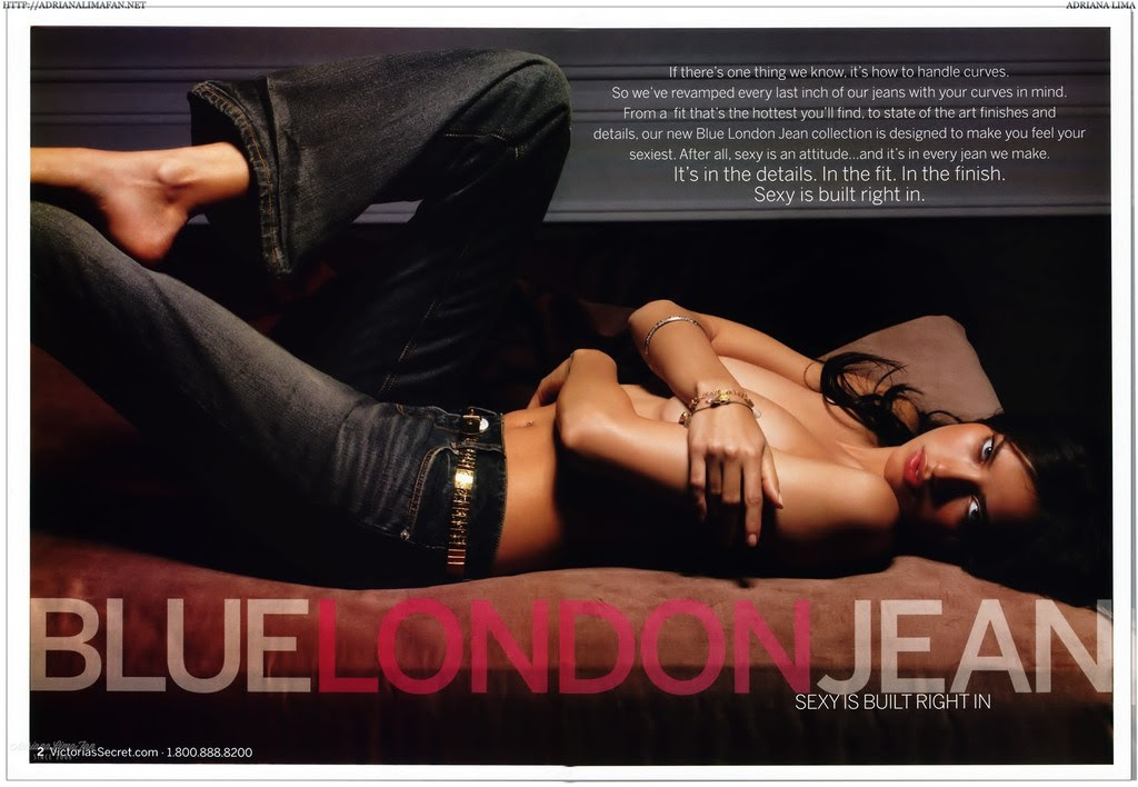 Adriana Lima - Blue London Jean Catalog Photoshoot