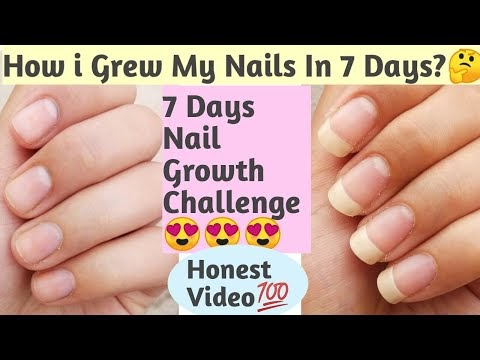 7 Day Nail Growth CHALLENGE-How i grew my nails in 7 days-7 din me karo ...