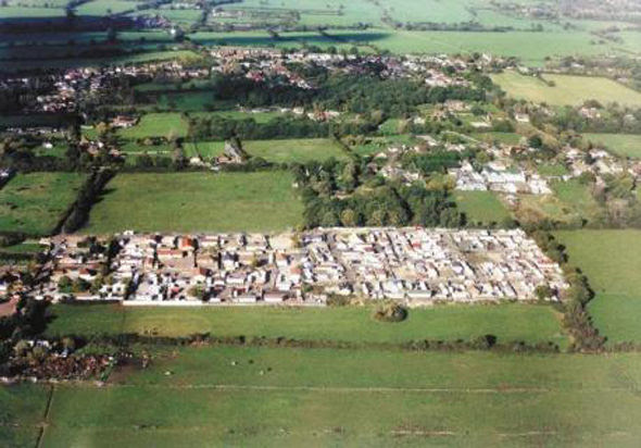 Sprawling: Dale Farm before the eviction