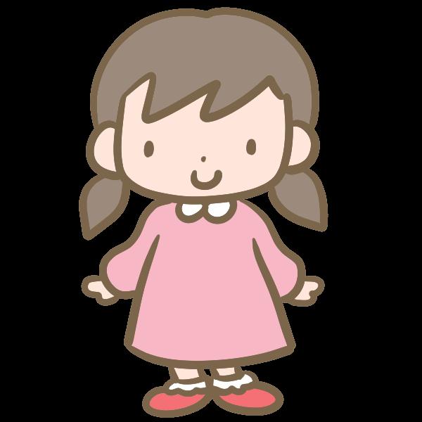 可愛い女の子のイラスト かわいいフリー素材が無料のイラストレイン