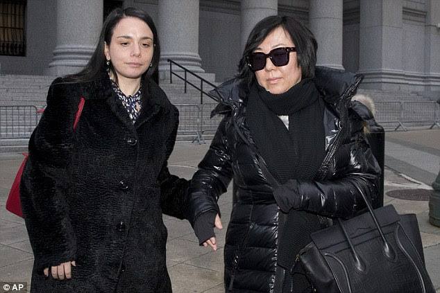 Yan (pictured right with her attorney outside the Manhattan federal court last week) said through a Mandarin interpreter that she knew her conduct was wrong