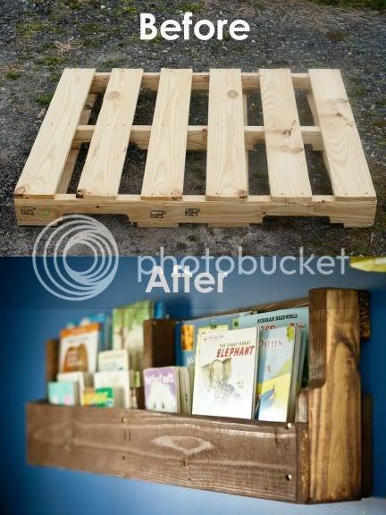 Wood Pallet Bookshelf - a mini tutorial