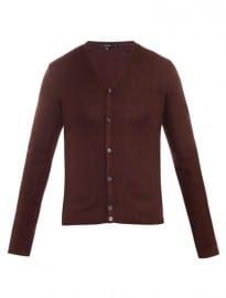Gucci Ribbed-knit Silk Cardigan 133429
