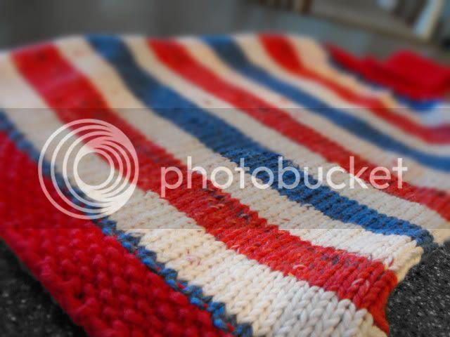 patriotic hanging towel closeup