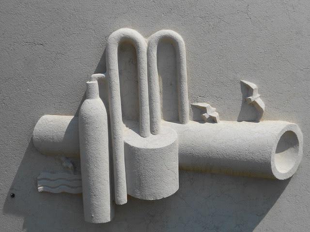 fontana Virgilio Milani, stazione di Rovigo, dettaglio 4