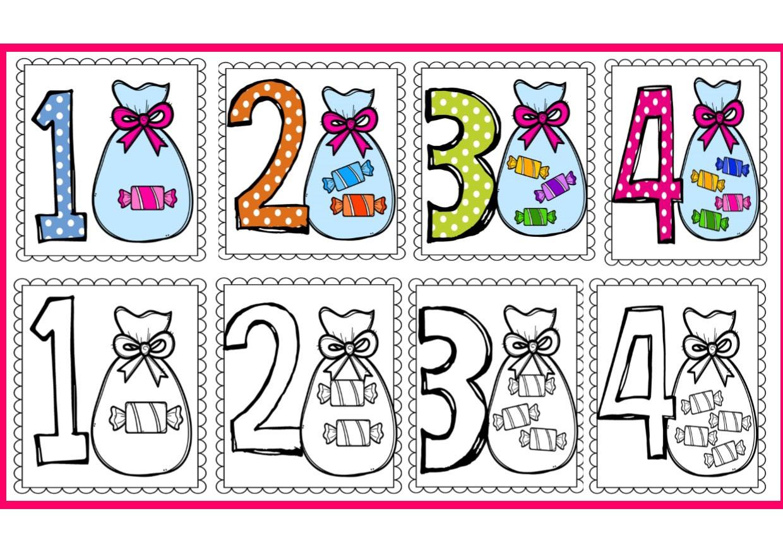 Dibujos Para Colorear Con Numeros Del 1 Al 20 Dibujos Para Colorear