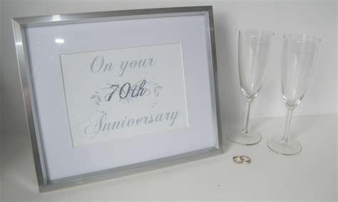 Stunning Diamante 70th (Platinum) Wedding Anniv    Folksy