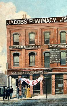 Jacobs' Pharmacy in Atlanta, where Coca-Cola was first sold in 1886
