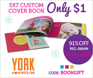 5X7 Custom Cover Photo Book - Only $1 - Save $9.99!