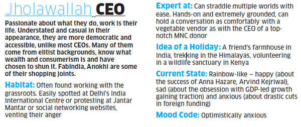 Two decades of churning in India Inc have unleashed new species of corporate professionals, each flaunting a unique set of skills. So which type are you?