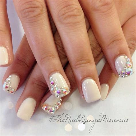 Top 20 Stunning Wedding Nail Ideas   Bling Wedding Nails