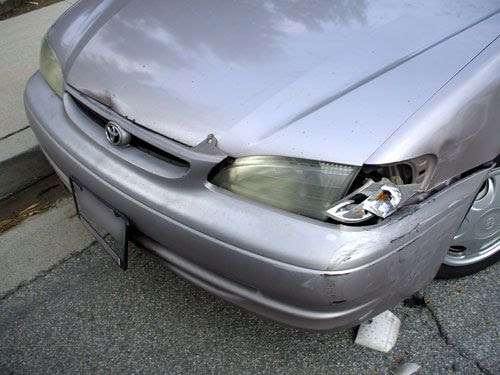 Damage on my Toyota Corolla.