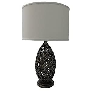 Yosemite Home Decor PTL703 27.5-Inch Table Lamp with White Drum ...