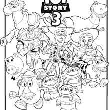 Coloriages Toy Story Woody Et Buzz Léclair Frhellokidscom
