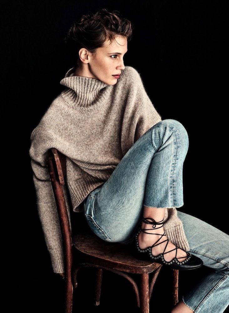 Le Fashion Blog -- Marine Vacth With Cozy Classic Fall Style -- Celine Turtleneck, Levis Jeans Denim & Isabel Marant Lace Up Ballet Flats -- Elle France -- photo Le-Fashion-Blog-Marine-Vacth-Cozy-Classic-Fall-Style-Celine-Turtleneck-Levis-Denim-Isabel-Marant-Lace-Up-Ballet-Flats-Elle-France.jpg