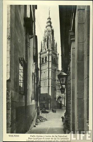 Catedral de Toledo a principios del siglo XX. Archivo de la Revista Life.