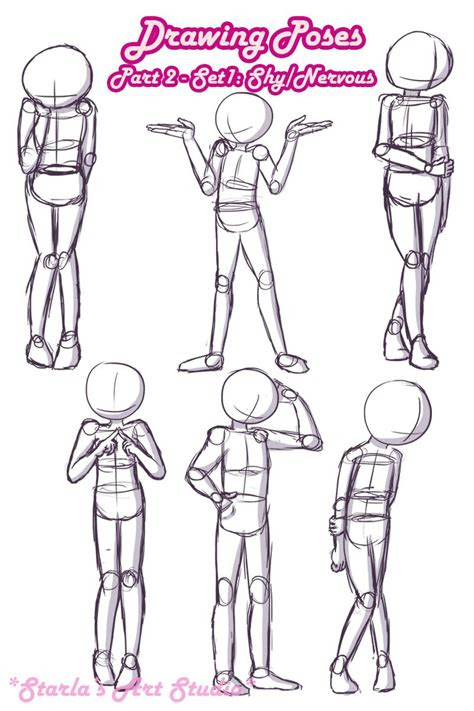 shy poses    quick reference page  shy