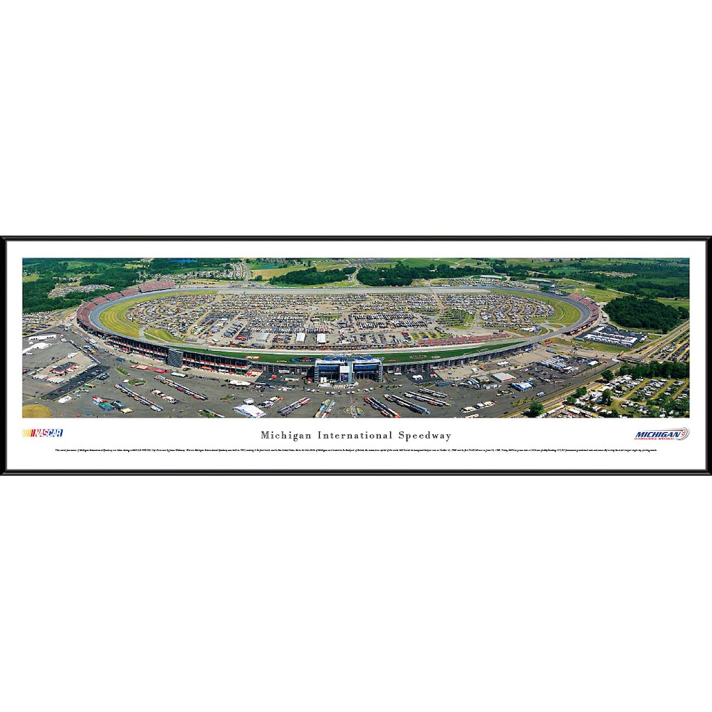 Michigan International Speedway 13 X 40 Standard Frame Panoramic