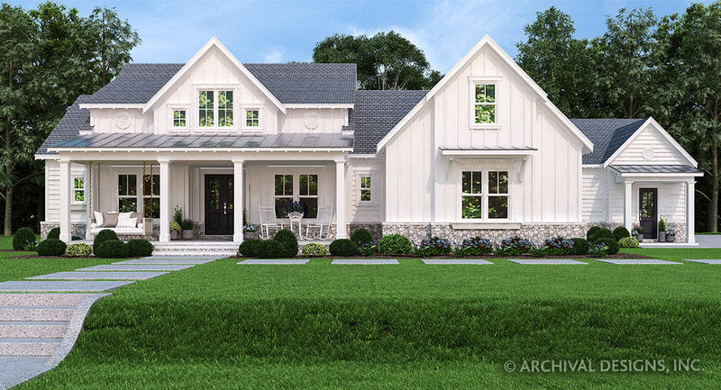 Pinecone Trail House  Plan  One Story House  Plan