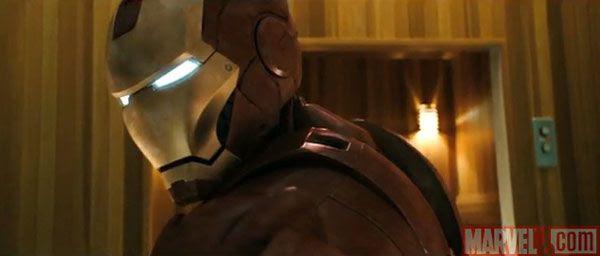 A screenshot from the IRON MAN 2 teaser trailer.