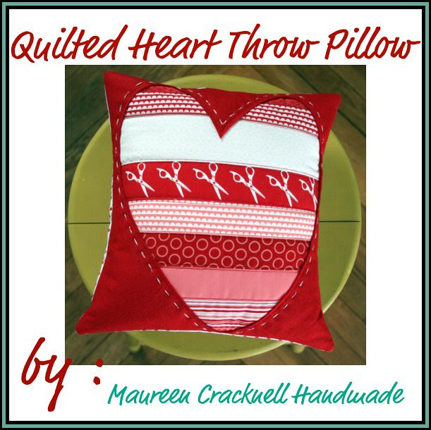 Quilted Heart Valentine Pillow