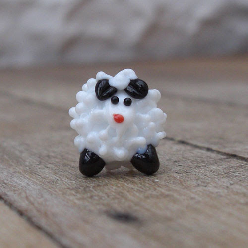 Lampwork sheep bead
