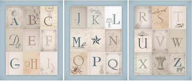 Nursery Alphabet Wall Art {free printables} - How to Nest for Less™
