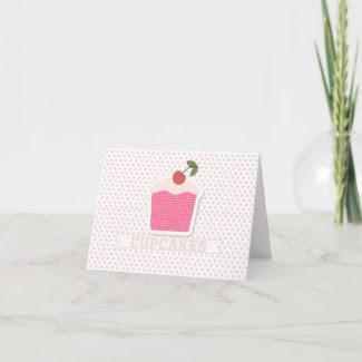 Cupcakes & Polka Dots Note Card