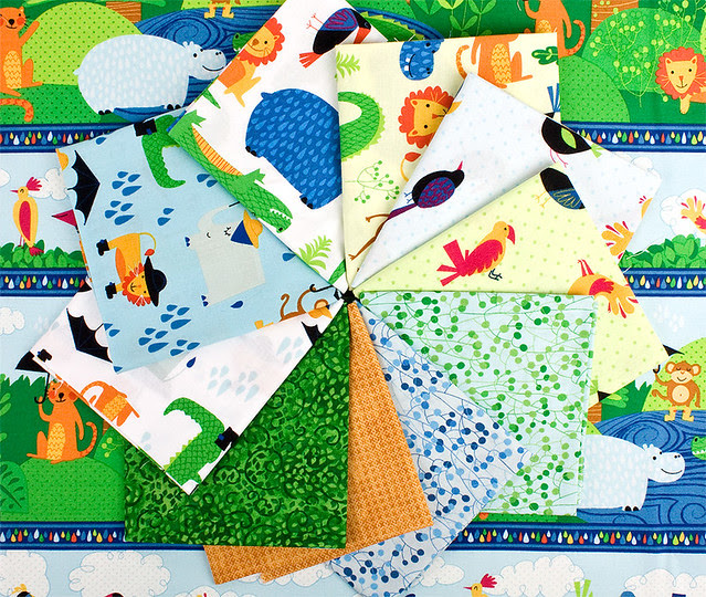Rainforest Fun Quilt fabric by Arrolyn Weiderhold