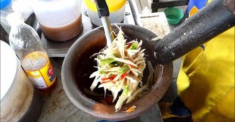 Cách làm gỏi cua sống với xoài Thái Lan chua cay ngon miệng - Street food Thailand
