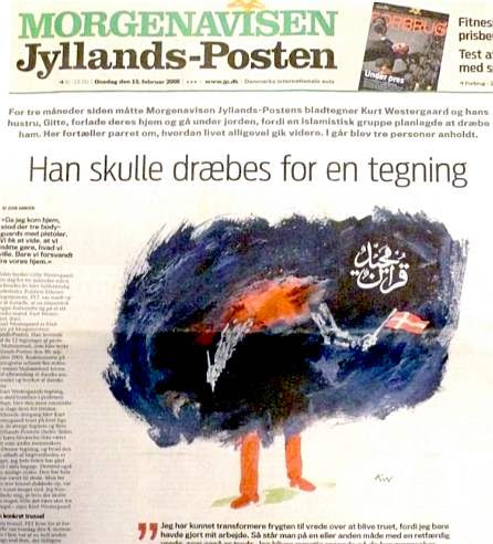 Kurt Westergaard's drawing in Jyllands-Posten